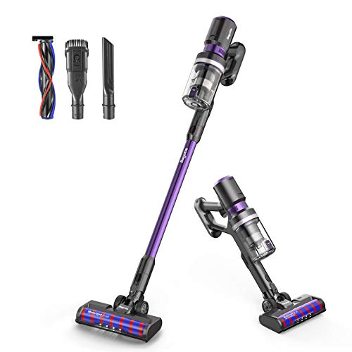 Cordless Vacuum Cleaner, Bagotte 8-in-1 25000Pa Powerful Suction Stick Handheld Vacuum Cleaner for Pet Hair Hard Floor Carpet Car, Lightweight