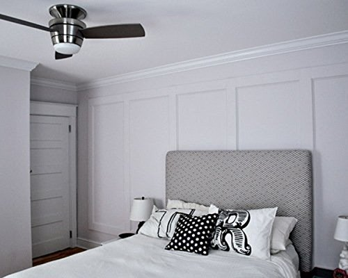 Harbor Breeze Mazon 44 In Brushed Nickel Flush Mount Indoor Ceiling Fan With Ebay