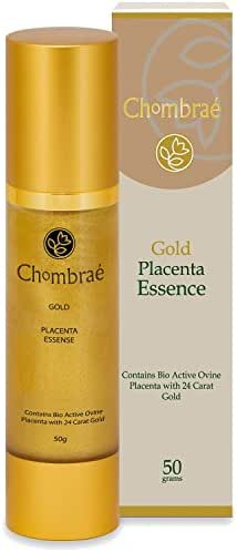 Chombrae Gold Placenta Essence with Bio Active Ovine Placenta, Marine Collagen and Aloe Vera, 50 Gram