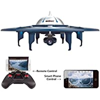 U845 WiFi FPV Drone RC Quadcopter with Headless Mode Real-time Transmission 720P HD Camera 2 mode (App/Controller) Controllable