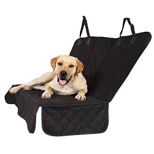 Petfun Pet Car Seat Covers Backseat, Back Seat Dog Cover for Car,Truck,Jeep&SUV Waterproof Polyester Black