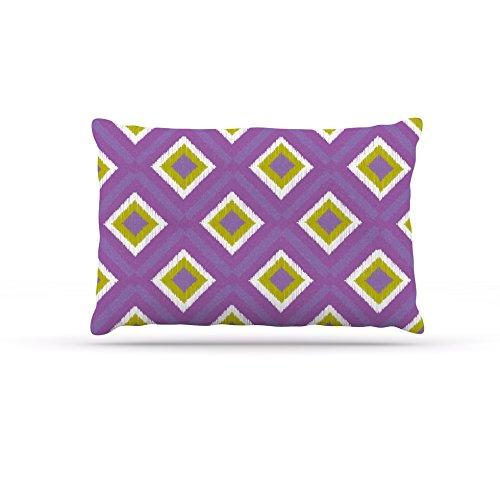 Kess InHouse Nicole Ketchum Purple Spash Tile  Fleece Dog Bed, 50 by 60 , Multicolor