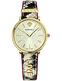 Women's 'MANIFESTO EDITION' Swiss Quartz Gold-Tone and Leather Casual Watch, Color Beige (Model: VBP080017)