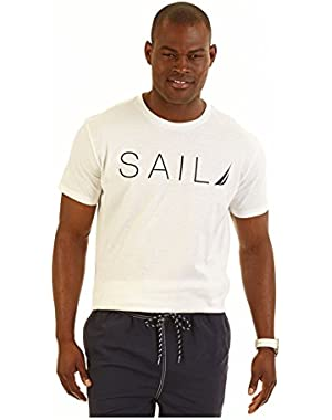 Big and Tall Sail Graphic T-Shirt White 5XL