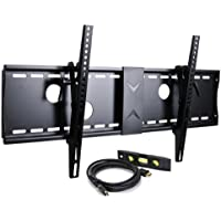 VideoSecu Tilt Flat Screen TV Wall Mount Bracket for 37 40 42 46 47 50 52 55 58 60 62 63 65 70 LCD LED Max VESA 700x400mm with 7 ft HDMI cable and Bubble Level MN4