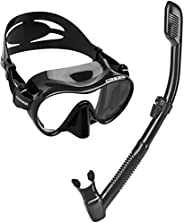 Cressi Scuba Diving Snorkeling Kit - Freediving Mask & Dry Snorkel   F1 & Supernova Dry: Designed