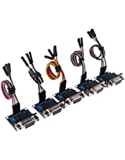 Baosity 5pcs RS232 to TTL Converter Module Built in MAX3232 Transfer Chip with Cable