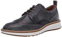 ECCO ST.1HYBRID, Zapatos de Cordones Brogue para Hombre, Gris (Magnet 1308), 43 EU