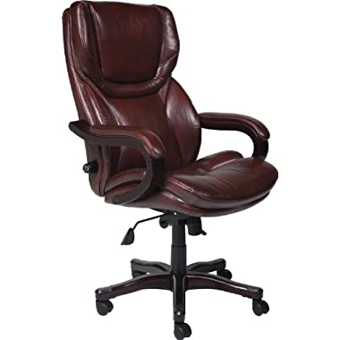 Serta 43506 Bonded Leather Big & Tall Executive Chair, Brown