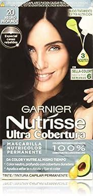 Garnier 20 - Nutrisse, Tinte Ultra Cobertura, Negro Profundo, 53.81 gr
