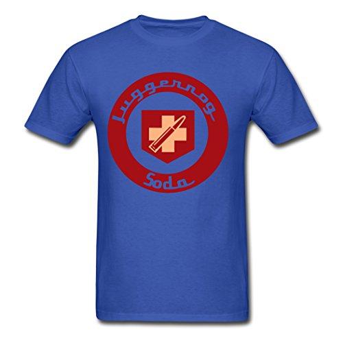 Men's Personalize Diy Juggernog Soda DD.Cat T-Shirt Royal blue Medium