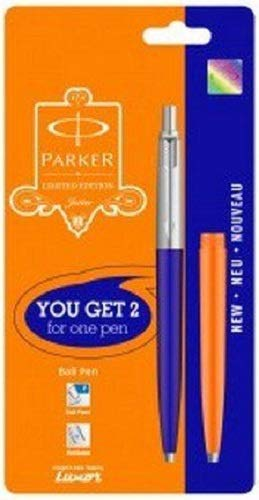 - Parker Jotter Limited Edition CT BallPen Ballpoint pen Blue Body + Orange Barrel, Blue ink