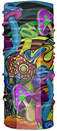 Fashion Psychedelic Trippy Art Seamless Headband UPF 30 High Performance Moisture Wicking Bandana Face Mask Balaclava of 100/% Polyester Microfiber