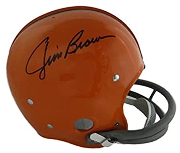 Amazon.com  Jim Brown Autographed Cleveland Browns Full Size RK Helmet JSA   Sports Collectibles c37fa1eee