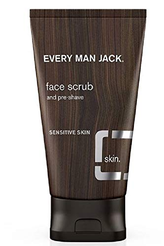 Every Man Jack Face Scrub, Fragrance Free, 5.0-ounce (The Best Face Scrub For Sensitive Skin)