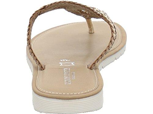 Ilse Jacobsen Rio1001-700 - Zuecos de Piel para mujer Gold/Bronce