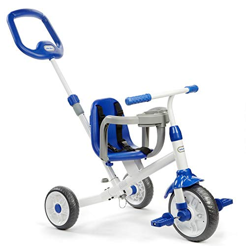 Little Tikes Ride 'N Learn 3-in-1 Trike, Blue (Renewed)