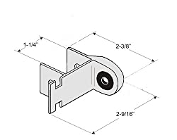 """Chrome Plated Zamak Strike & Keeper for Inswing Restroom Partition Door - for Slide or Throw Latch - for 1-1/4"""" Square Edge Pilasters"""