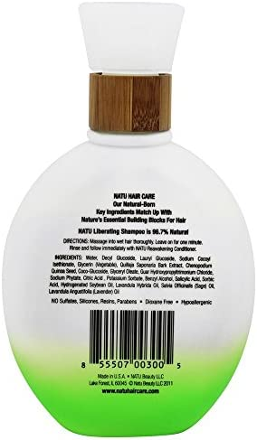 Natu Liberating Shampoo 8.4 oz. Sulfate-Free Performance Shampoo. Naturally Cleanses for Soft, Silky Hair by NATU: Amazon.es: Belleza