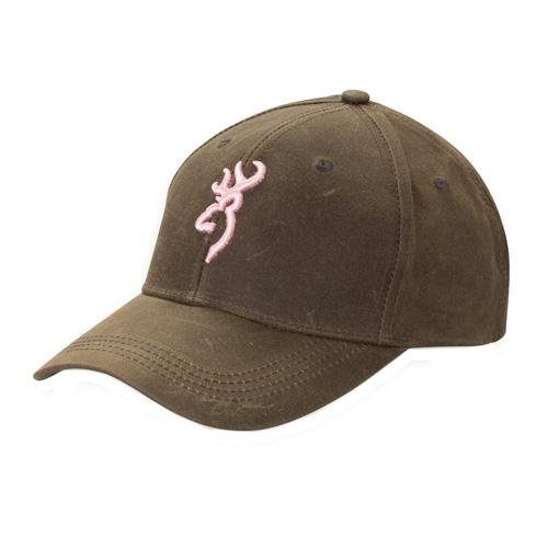 Browning Dura-Wax Cap, Pink, Brown, Semi-Fitted