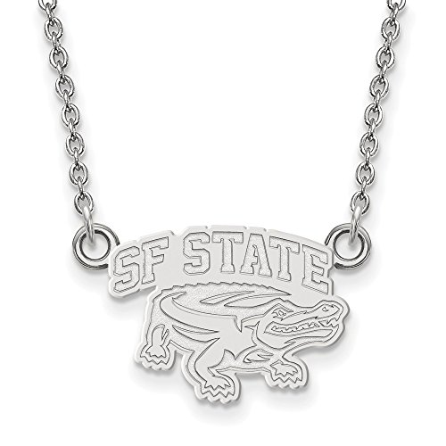 FB Jewels Sterling Silver LogoArt San Francisco State Univ Small Pendant Chain -