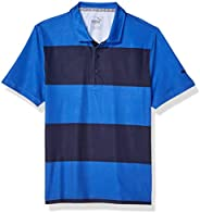 PUMA Golf 2019 Boy's Rugby Polo, Dazzling Blue-Peacoat, Me
