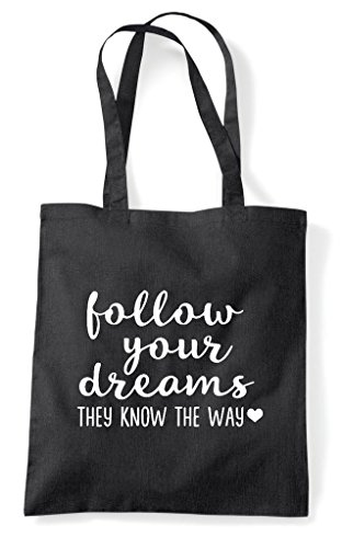 Statement They The Follow Tote Dreams Shopper Black Your Way Bag Know WOWYpPq