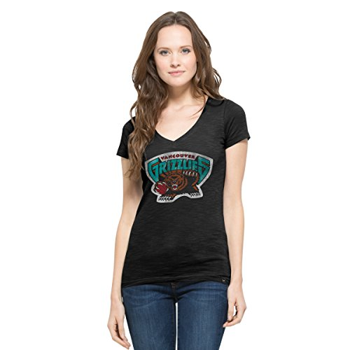 NBA Memphis Grizzlies Women's '47 Flanker MVP V-Neck Tee, X-Large, Jet Black