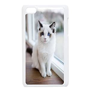 UNI-BEE PHONE CASE FOR IPod Touch 4th -Grumpy Cat,Because Cats-CASE-STYLE 16