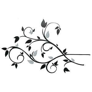 RoomMates - Pegatinas decorativas reutilizables para pared, diseño de ramas y hojas