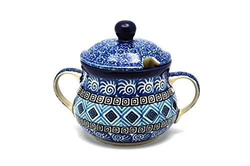 Polish Pottery Sugar Bowl - Aztec Sky (Aztec Creamer)