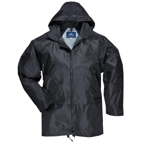 Portwest Classic Rain Jacket, Small to XXL, 3 colours - Black - XL by Portwest