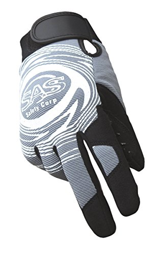 Lrg SAS Safety 6721-23 MX Impact Resistant Padded Palm with Finger Patches Gloves Black//Black