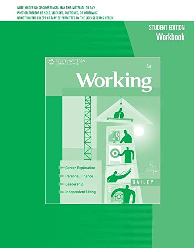 Workbook for Bailey's Working: Career Success for the 21st Century, 4th