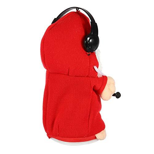 Cute Speak Talking Plush Hamster Mimic Repeat Recording Electric Animal Kids Toy - Dolls & Stuffed Toys Stuffed & Plush Toys - (Red) - 1 x Toy