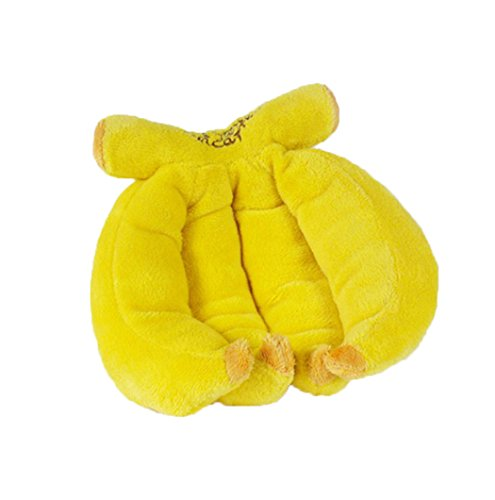 Critter Cuddle Cup (Banana Type Pet Cat Dog Toys Sharp Sound Puppy Plush Chew)