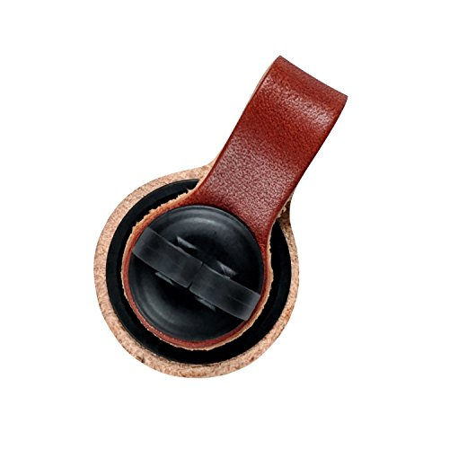 Bud Buttons By SPRK - Magnetic Headphone & Earbud Cord Organizer - Sure Stay Clip Great for Musicians, Runners & Outdoor Fitness (Leather Tan) ()