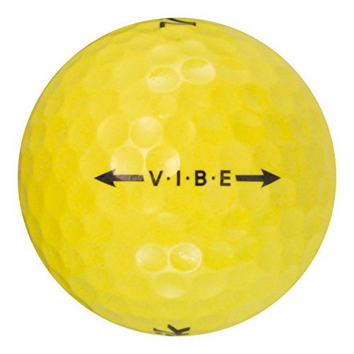 36 Volvik Vibe Yellow - Near Mint (AAAA) Grade - Recycled (Used) Golf Balls by Volvik