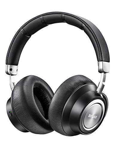Boltune Noise Cancelling Headphones, [2019 Upgraded] Bluetooth Headphones with Microphone/Deep Bass Wireless Headphones Over-Ear, Protein Earpads 30H Playtime for Travel Work TV PC Cellphone (Best Over Headphones 2019)