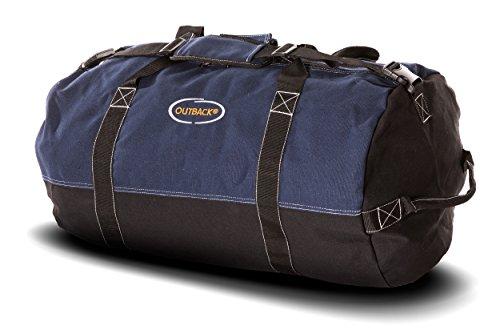 (Ledmark Heavyweight Cotton Canvas Outback Duffle Bag, Blue, Large 30