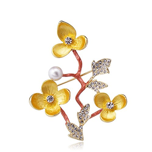 5 Degree Pin (Clothing & Accessories housewaresstore- Simple Flowers Brooch Female Accessories Fashion Coat Coat Pin Corsage (Color : Yellow))
