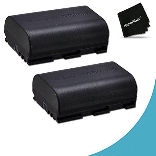 2 Canon LP-E6 Batteries Replacement for Canon XC10, EOS 7D Mark II, EOS 5D, 6D, 7D, 60D, 60Da, 70D EOS 5D Mark II, EOS 5D Mark III DSLR Cameras