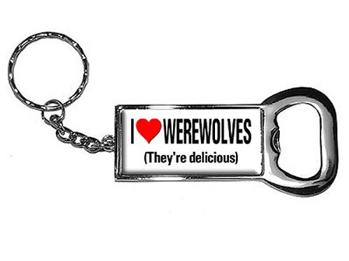 Graphics and More Ring Bottle-Cap Opener Key Chain, I Lov...