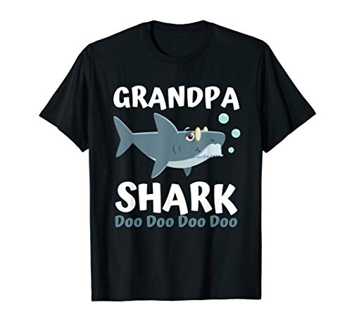 Fathers Day Gift from Wife Kids Baby Grandpa Shark Doo Doo ()