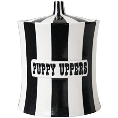 Jonathan Adler Puppy Uppers, Black & White, 8.75  x 6.7