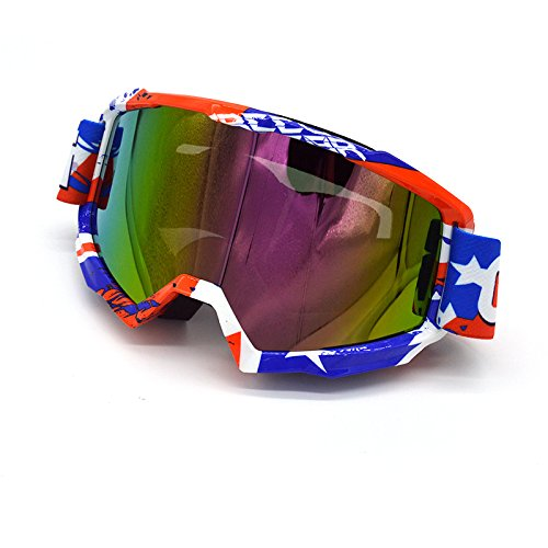 evomosa Motorcycle Skiing Snowboarding Goggles Vintage Retro OTG Open Face Helmet Goggles for women men youth MG22-TRL