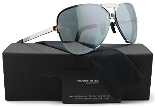 Porsche Design P8678 D Sunglasses Palladium w/Crystal Grey & Light Blue (V269) 8678 67mm - Porsche Vintage Sunglasses
