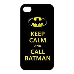 Keep Calm And Call Batman For Iphone4/4s Black or White Best Rubber Cover Case-Creative New Life