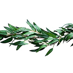 Bergh Floral Greenery Garland Artificial Eucalyptus Faux Plant Vine | Wedding Home Decor 4.2 ft 18
