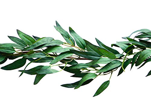 Bergh Floral Greenery Garland Artificial Eucalyptus Faux Plant Vine | Wedding Home Decor 4.2 ft ()